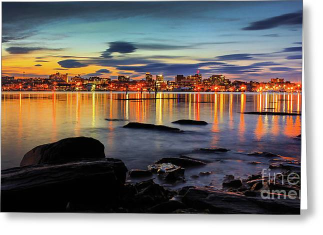 Scenery Greeting Cards - Portland Maine Greeting Card by Benjamin Williamson