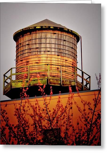 Portland Water Tower IIi Greeting Card by Albert Seger