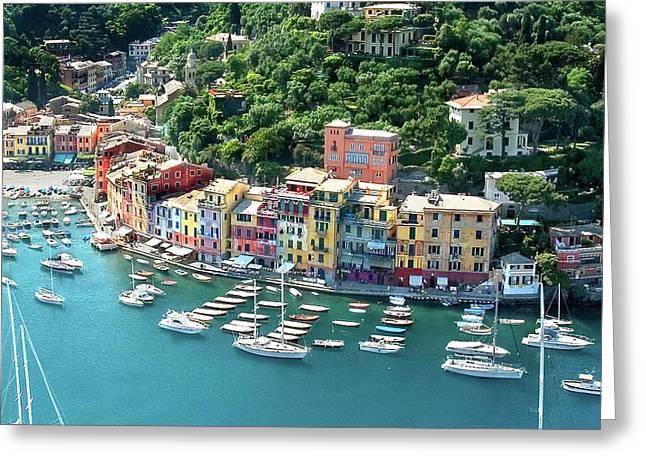 Portofino 3 Greeting Card by Al Hurley