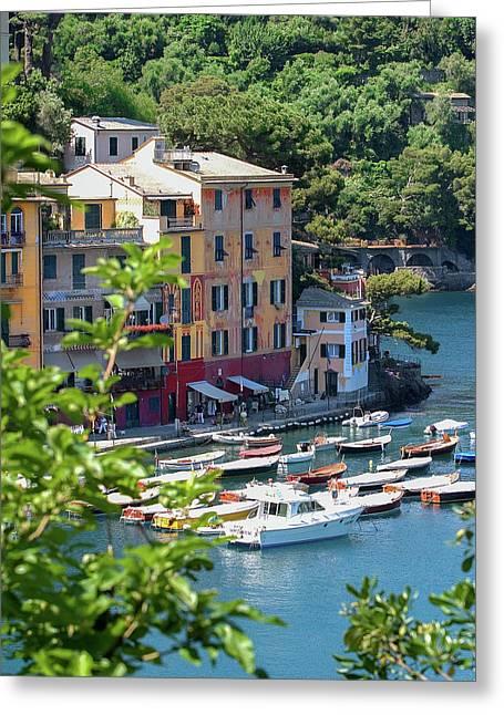 Portofino 5 Greeting Card by Al Hurley