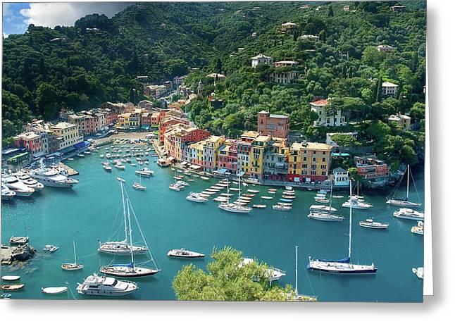 Portofino Greeting Card by Al Hurley
