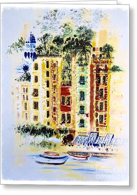 Portofino Italy Gallery Greeting Cards - Portofino  Greeting Card by Barbara Chase