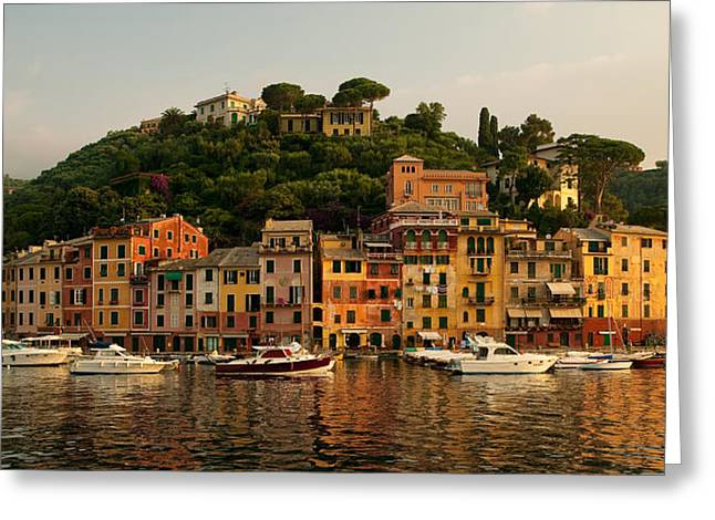 Portofino Italy Photographs Greeting Cards - Portofino bay Greeting Card by Neil Buchan-Grant