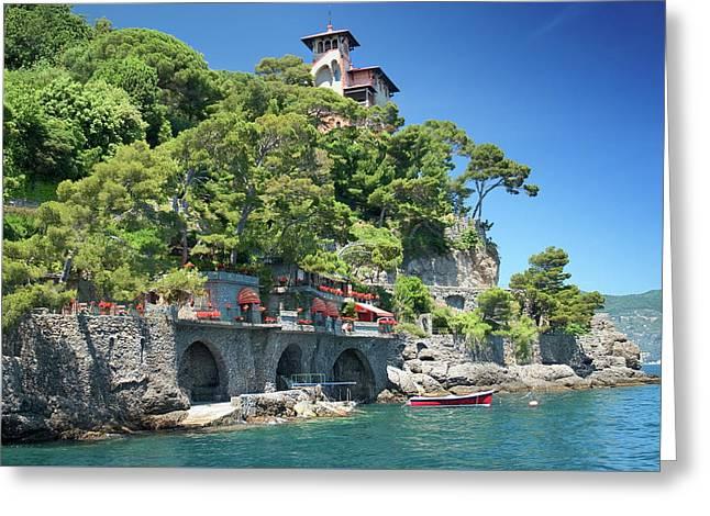 Portofino Casa 3 Greeting Card by Al Hurley