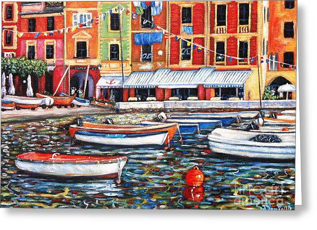 Portofino  Greeting Card by Danielle  Perry