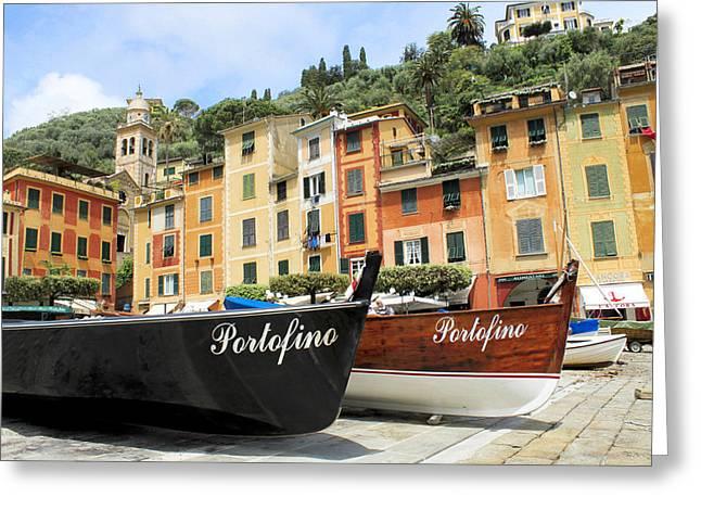 Portofino Italy Greeting Cards - Portofino Italy Greeting Card by Michael  Kenney