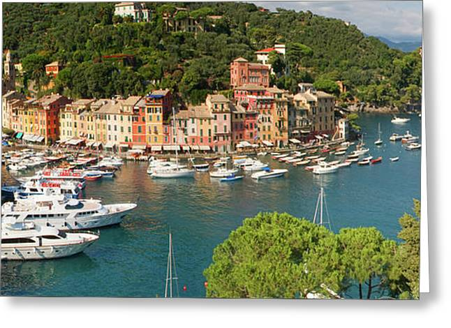 Portofino Panorama Greeting Card by Cliff Wassmann