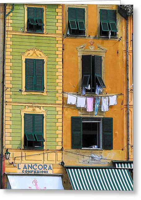 Portofino Greeting Card by Paula McFann