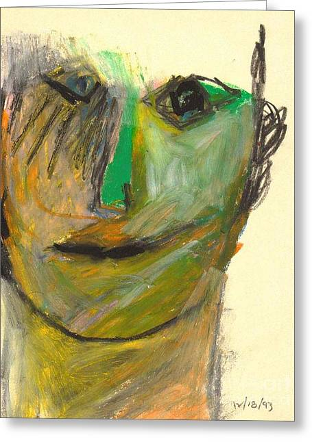 Pensive Drawings Greeting Cards - Portrait 1 Greeting Card by Lynne Carlo