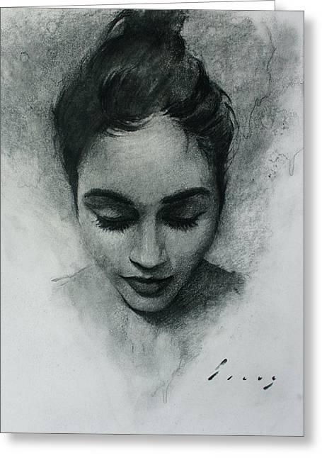 Portrait I Greeting Card by Kavinda Silva