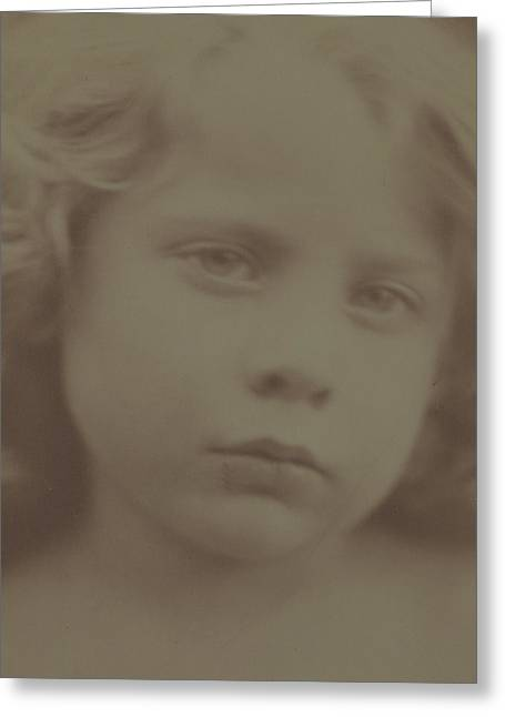 Portrait Of A Child, 1866 Greeting Card by Julia Margaret Cameron