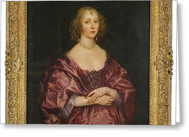 Portrait Of A Lady Greeting Card by Anthony