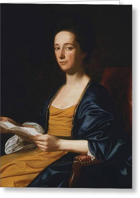 Portrait Of A Lady Greeting Card by John Singleton Copley