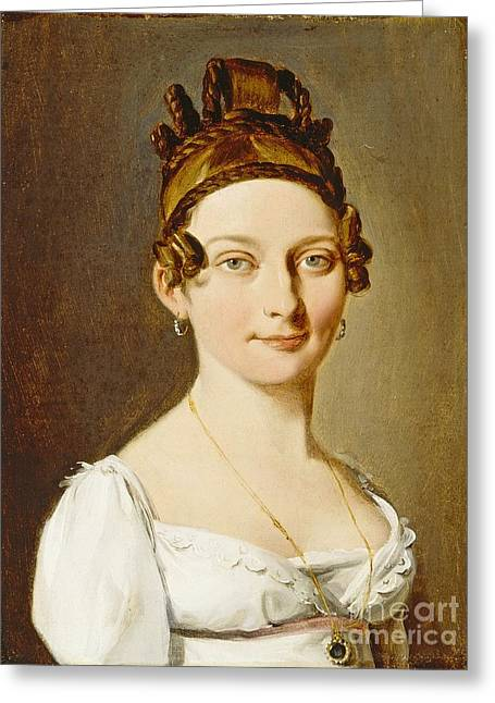 Boilly Greeting Cards - Portrait of a Lady Greeting Card by Celestial Images