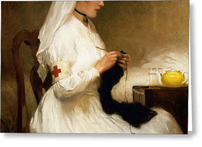 Portrait of a Nurse from the Red Cross Greeting Card by Gabriel Emile Niscolet