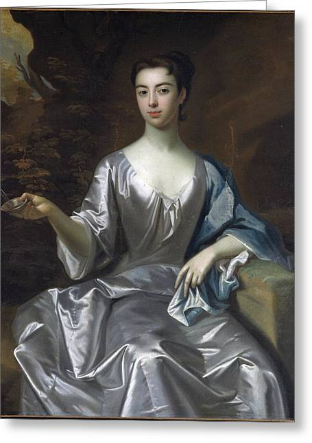 Portrait Of A Woman Greeting Card by Godfrey Kneller