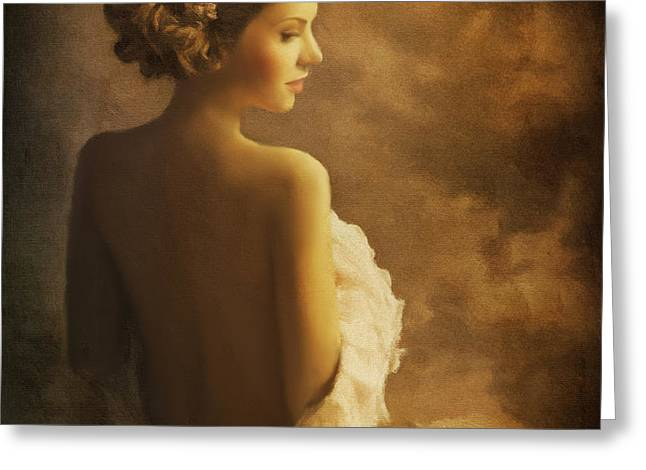 Dress Greeting Cards - Portrait Of A Woman Greeting Card by Tara Lee Richardson