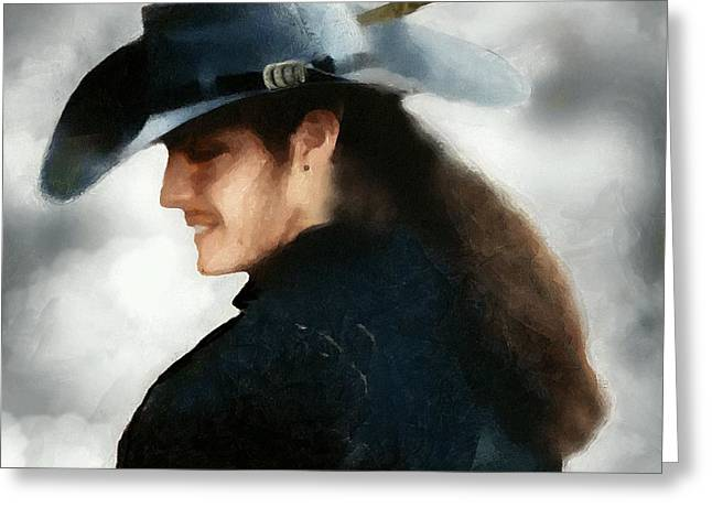 Buccaneer Greeting Cards - Portrait of a Young Man as a Buccaneer Greeting Card by RC DeWinter