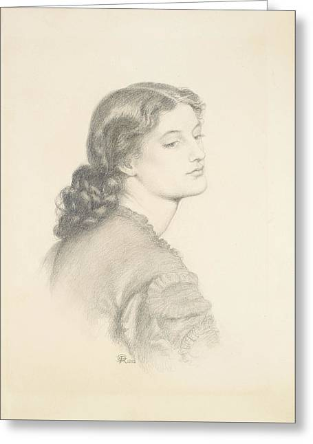 Portrait Of Ada Vernon Greeting Card by Dante Gabriel Rossetti