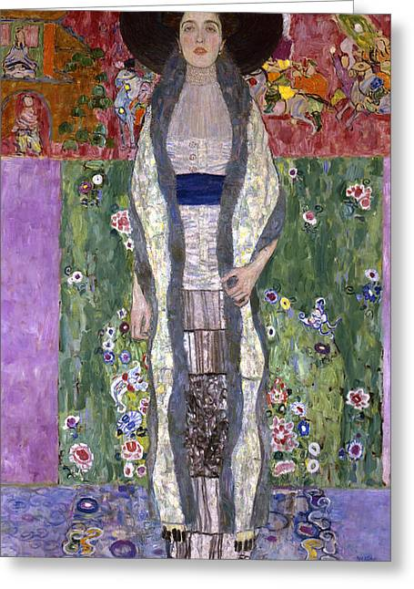 Full-length Portrait Paintings Greeting Cards - Portrait of Adele Bloch-Bauer II Greeting Card by Gustav Klimt