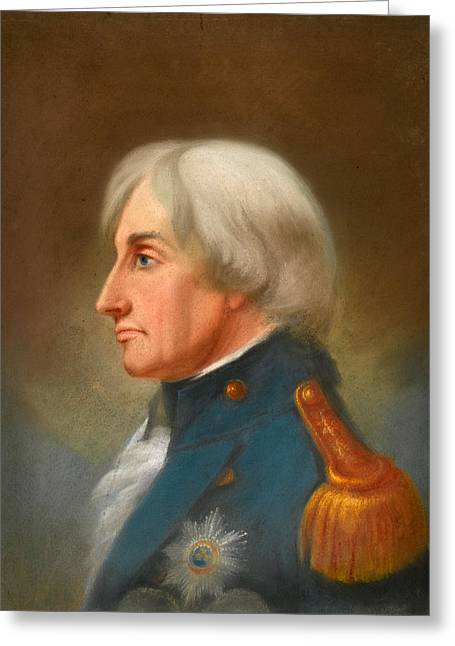 Lord Nelson Paintings Greeting Cards - Portrait of Admiral Lord Nelson Greeting Card by John Whichelo