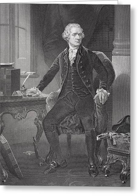 Portrait Of Alexander Hamilton Greeting Card by Alonzo Chappel