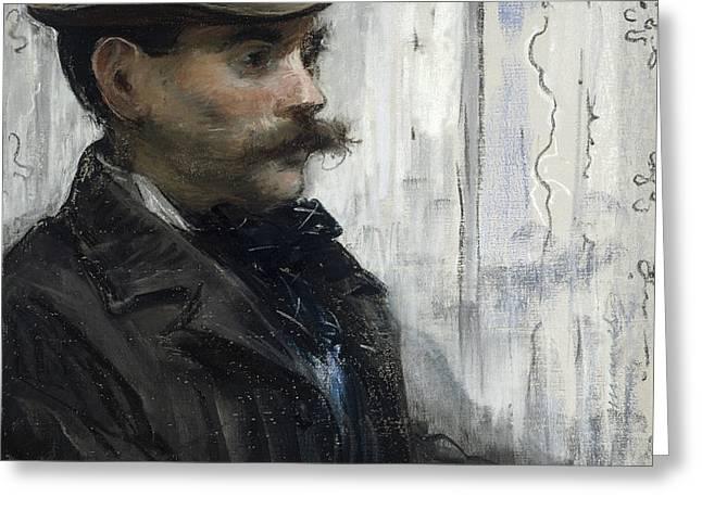 Portrait Of Alphonse Maureau Greeting Card by Edouard Manet