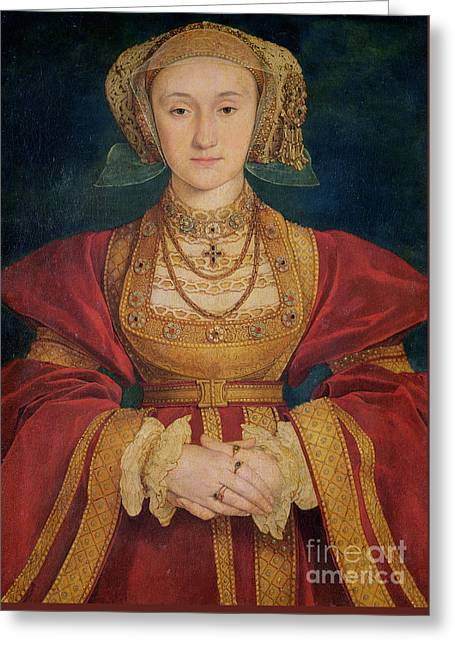 Portrait Of Anne Of Cleves  Greeting Card by Hans Holbein