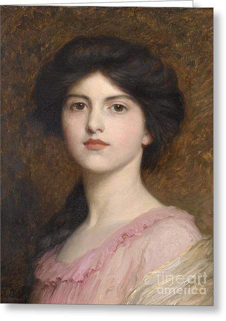 Portrait Of Camille Sutton Palmer Greeting Card by Celestial Images