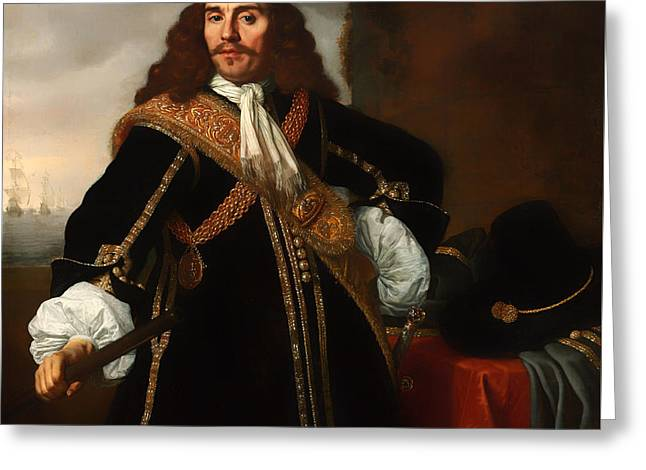 Gideon Greeting Cards - Portrait of Captain Gideon de Wildt Greeting Card by Bartholomeus Van Der Heist