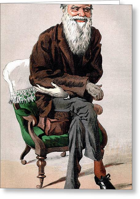 Elderly Hands Greeting Cards - Portrait of Charles Darwin Greeting Card by James Jacques Joseph Tissot