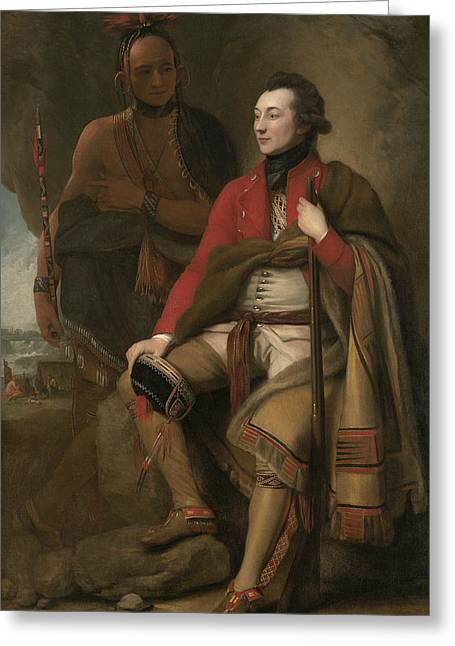 Portrait Of Colonel Guy Johnson Greeting Card by Benjamin West