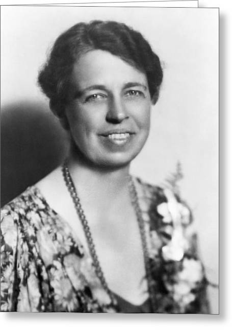 Portrait Of Eleanor Roosevelt Greeting Card by Underwood Archives