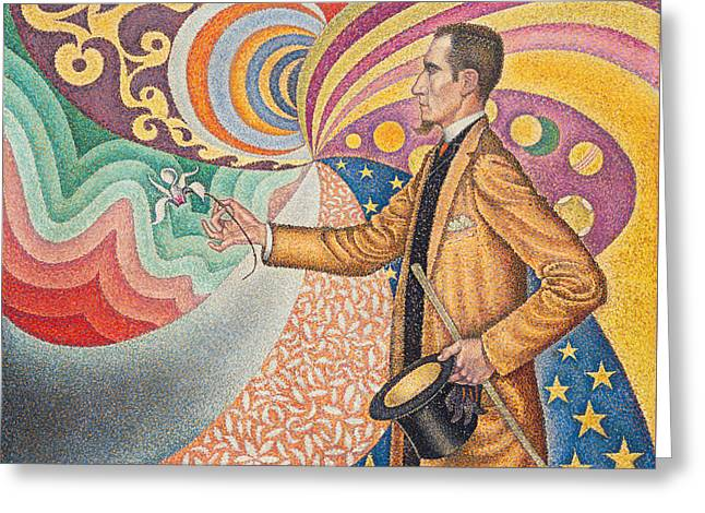 Portrait Of Felix Feneon Greeting Card by Paul Signac