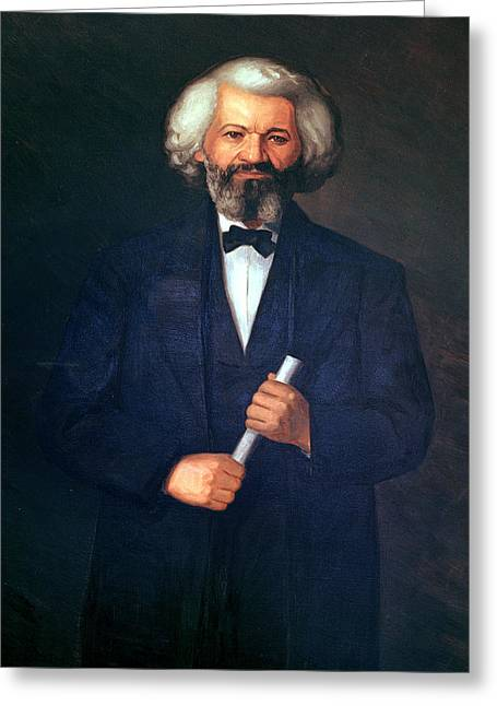 Freed Paintings Greeting Cards - Portrait of Frederick Douglass Greeting Card by American School