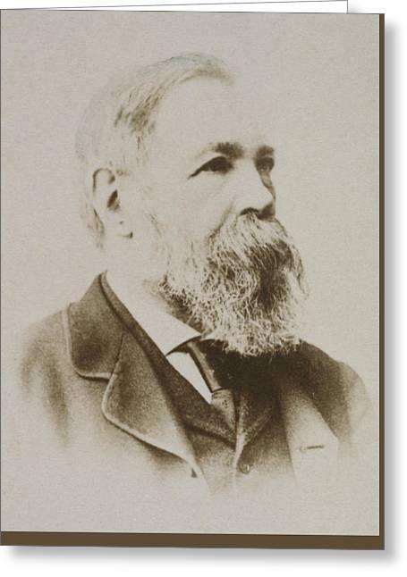 Portrait Of Friedrich Engels Greeting Card by Karl Pinkau
