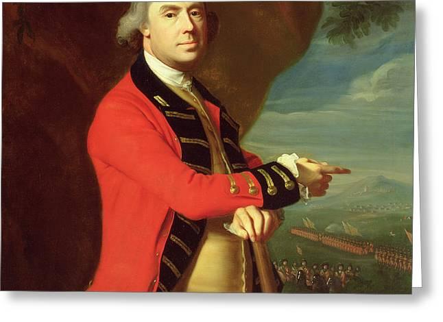 Portrait of General Thomas Gage Greeting Card by John Singleton Copley