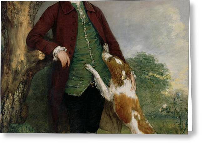 Portrait of George Venables Vernon Greeting Card by Thomas Gainsborough