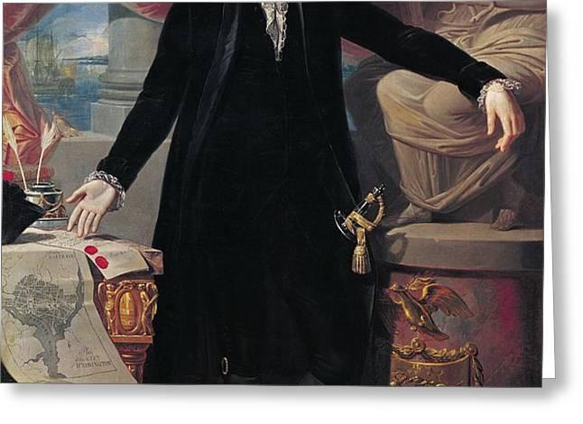 Portrait of George Washington Greeting Card by Joes Perovani