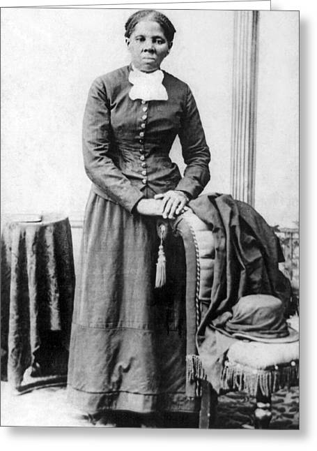 Portrait Of Harriet Tubman Greeting Card by H.B. Lindsey