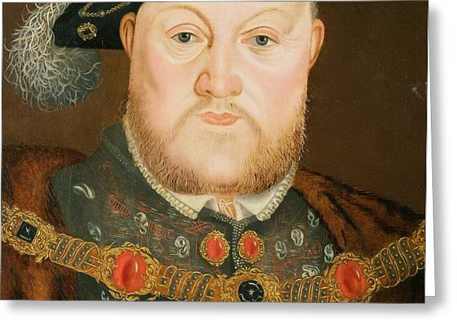Portrait of Henry VIII Greeting Card by English School