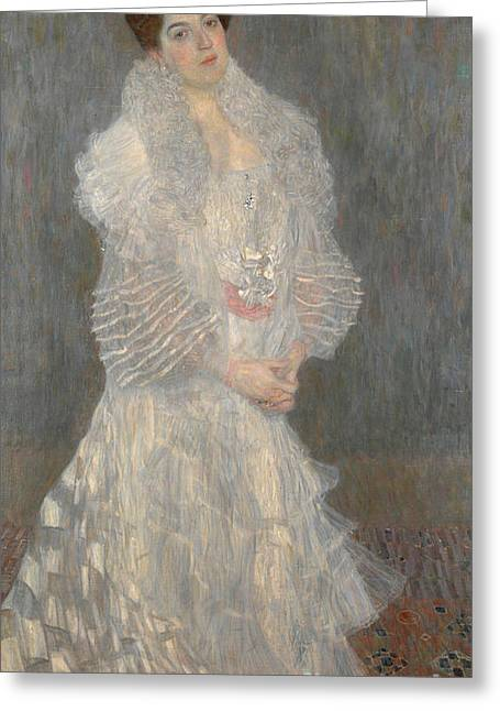 Klimt; Gustav (1862-1918) Greeting Cards - Portrait of Hermine Gallia Greeting Card by Celestial Images