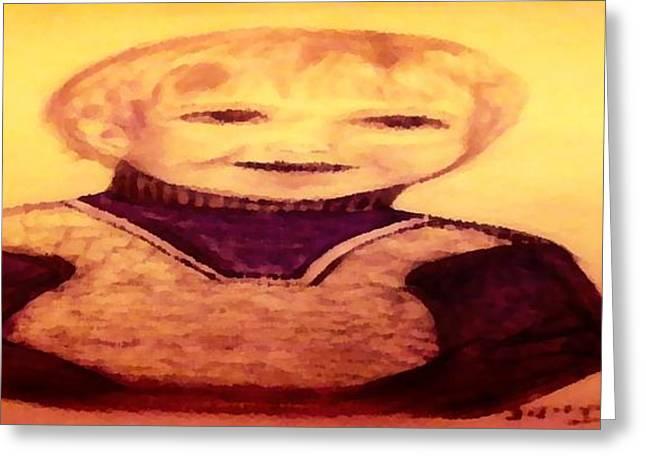Portrait Of Innocence Greeting Card by Debra Lynch