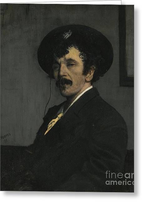 Portrait Of James Abbott Mcneill Whistler Greeting Card by Celestial Images