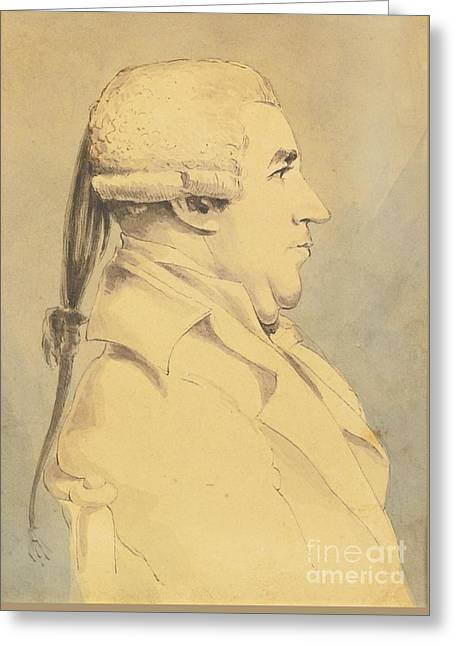 Portrait Of James Boswell Greeting Card by John Thomas