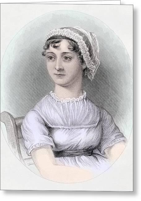 Portrait Of Jane Austen Greeting Card by Cassandra Austen