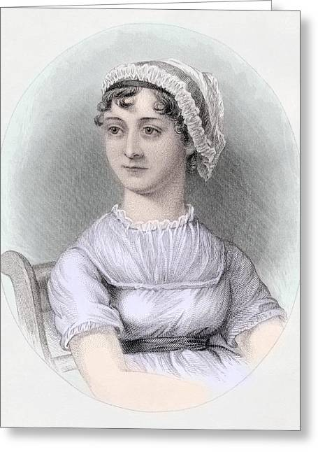 Emma Greeting Cards - Portrait of Jane Austen Greeting Card by Cassandra Austen