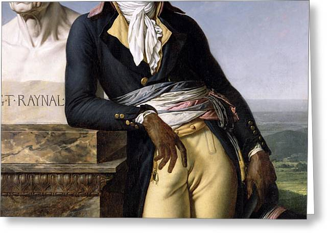 Portrait of Jean-Baptiste Belley Greeting Card by Anne Louis Girodet de Roucy-Trioson