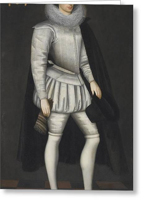 Portrait Of John Howe Greeting Card by Marcus Gheeraerts
