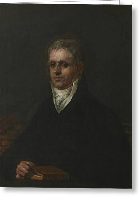 Portrait Of Jose Munarriz Greeting Card by Francisco Goya